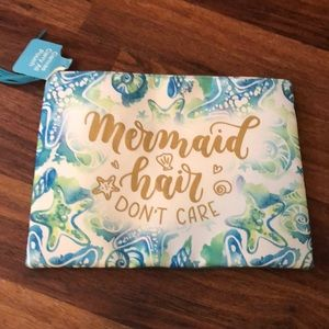 Handbags - Mermaid hair don't care beach clutch
